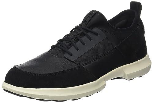 Geox - Zapatillas para hombre negro negro 7Zd8WQDFD