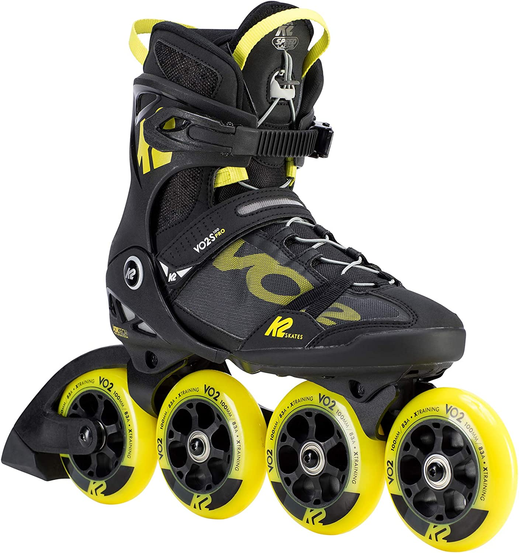 9 UK 43.5 EU Black-Yellow K2 Skates Herren VO2 S 100 PRO M Inline Skates