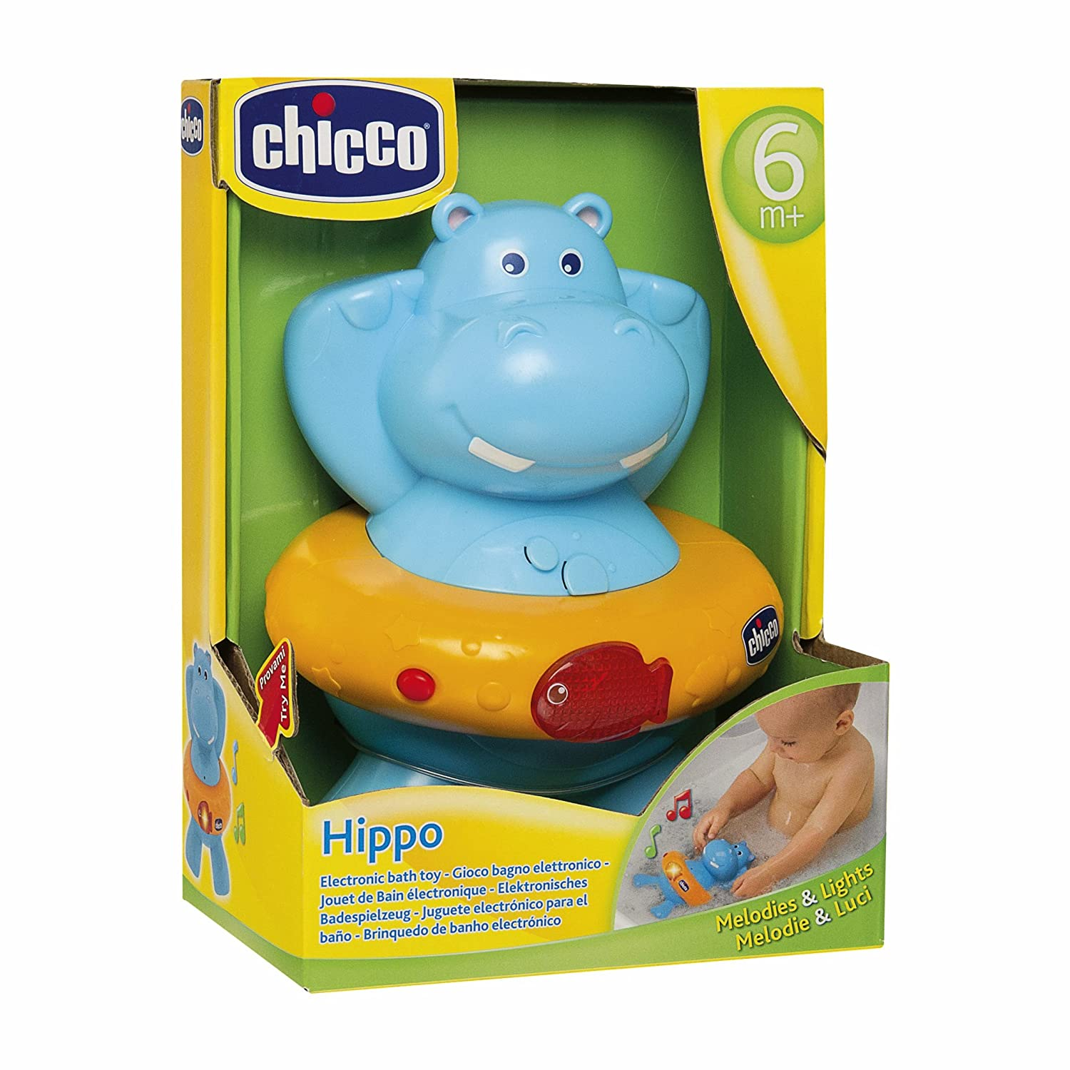 Amazon.com: Chicco Bath Electronic Game Happy Hyppo: Health & Personal Care