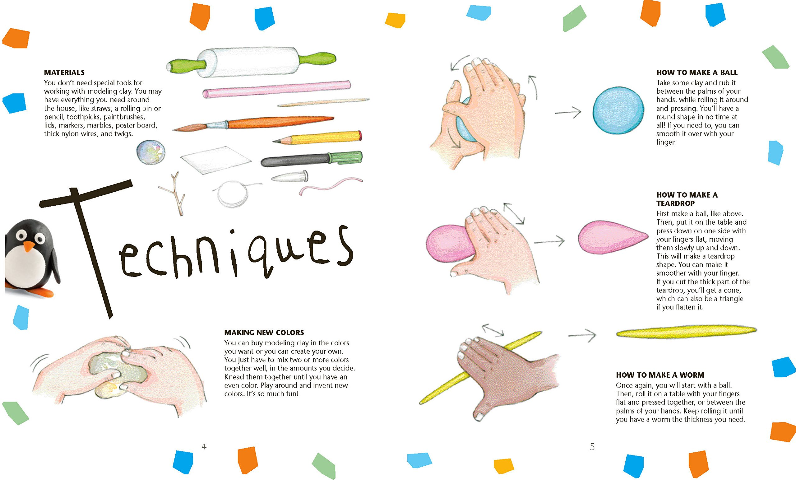 Drawing clay (plasticine): basic techniques 29
