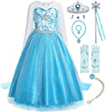 ReliBeauty Little Girls Snow Princess Fancy Dress Queen Costume with Accessories