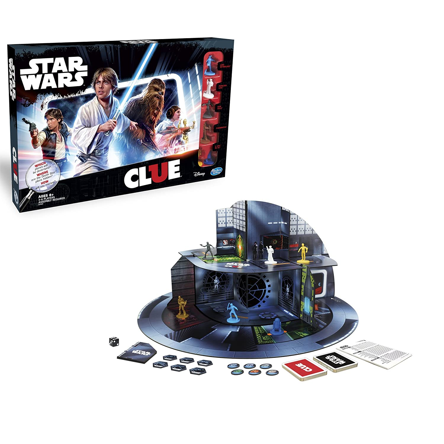 Amazon.com: Hasbro Clue Game: Star Wars Edition: Toys & Games