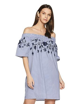 33f56fe19c56 VERO MODA Women s Bella Off Shoulder Dress at Amazon Women s Clothing store