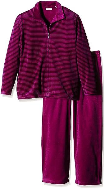 Triumph Sporty Stripes AW15LS01A (1PP33)-Pijama Mujer Violeta (Raspberry Juice Fq)