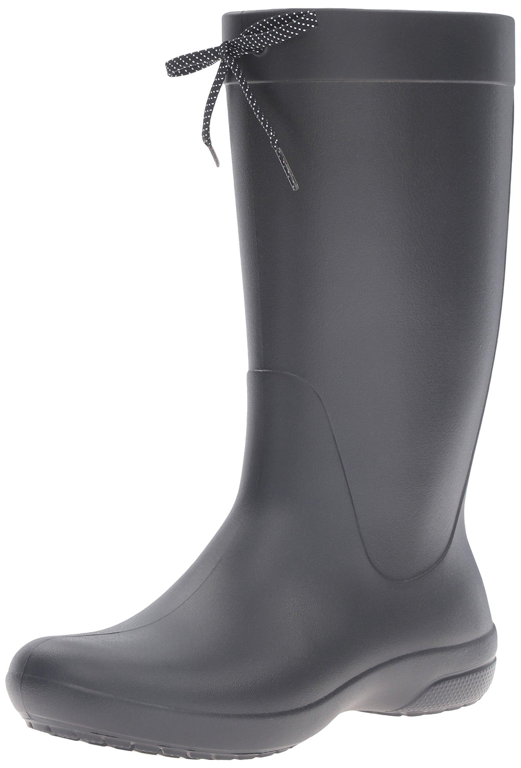 crocs Women's Freesail Rain Boot, Black, 10 M US by Crocs