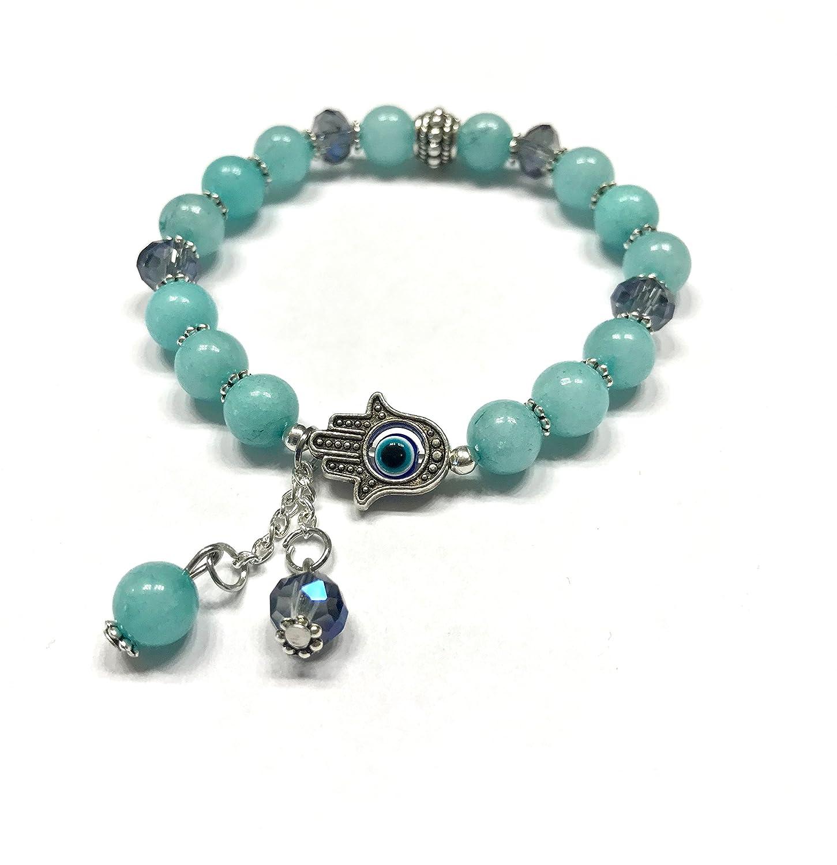 Christmas Sale Sky Blue Bracelet Amazonite Wrist Mala Beads Bracelet Sky Blue Gifts Sea Blue Br Bracelet Gift Idea Amazonite Jewelry