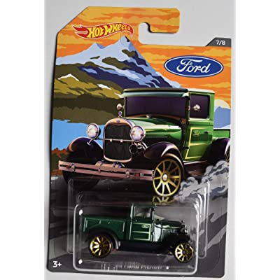 DieCast HOT Wheels Ford Series, Dark Green '29 Ford Pickup 7/8: Toys & Games