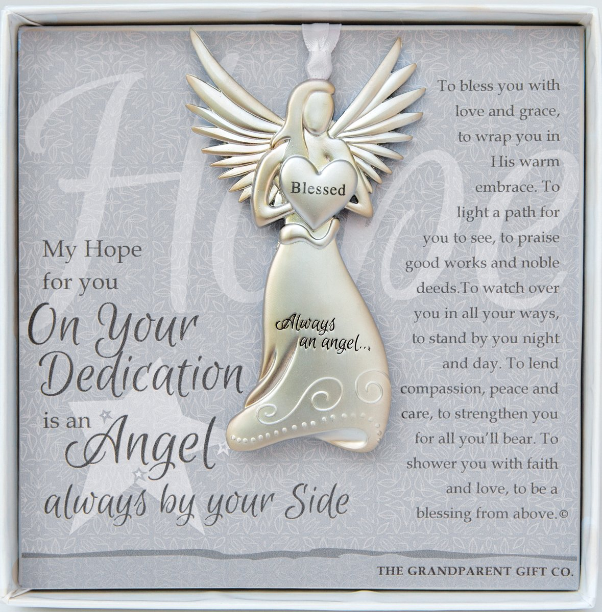 Dedication Gift Guardian Angel Medallion Ornament The Grandparent Gift Co. 4528-2