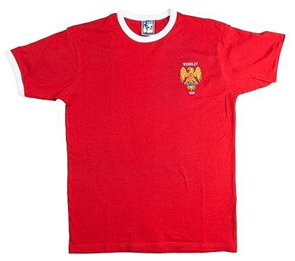 ddc7fc0d9fa Old School Football Manchester United 1958 F.A. Cup Final Football T-Shirt
