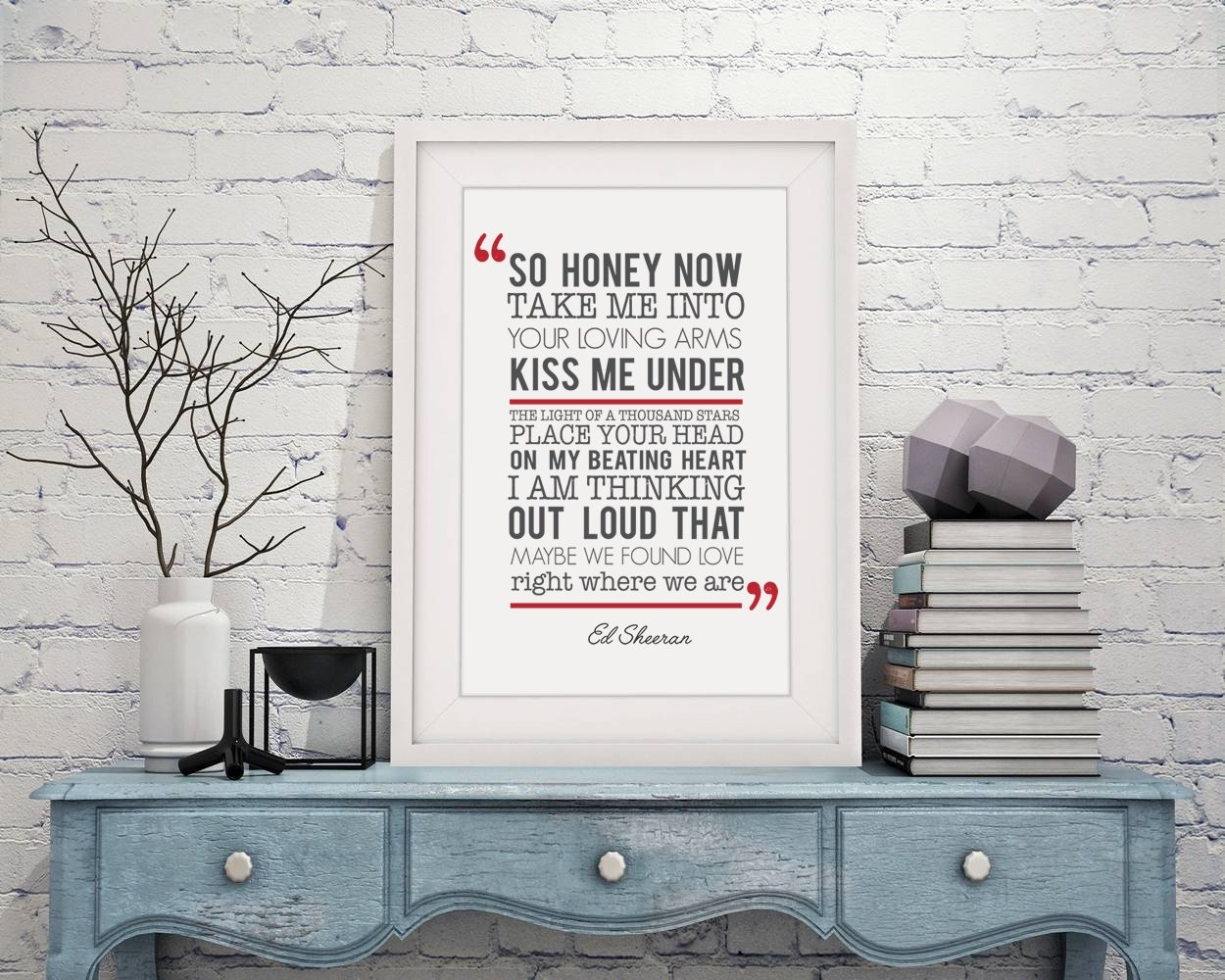 Amazon ed sheeran thinking out loud song lyrics framed a4 amazon ed sheeran thinking out loud song lyrics framed a4 print and 12x10 glazed frame with mount gift valentines day anniversary wedding design 2 jeuxipadfo Gallery
