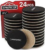 Felt Furniture Sliders Hardwood Floors X-PROTECTOR 24 PCS - Furniture Slider