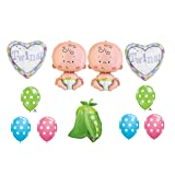 Two Peas in a Pod Twin Baby shower Balloon Decorating Kit Supplies