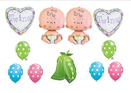Amazoncom Two Peas In A Pod Twin Baby Shower Balloon Decorating