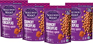 product image for Saffron Road Organic Crunchy Chickpea Snacks, 6 Oz (Pack of 4) - Bombay Spice