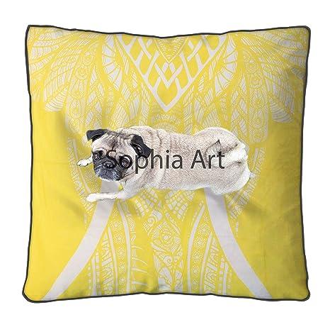 Amazon.com: Sofía Art Elefante Mandala Funda de cojín ...