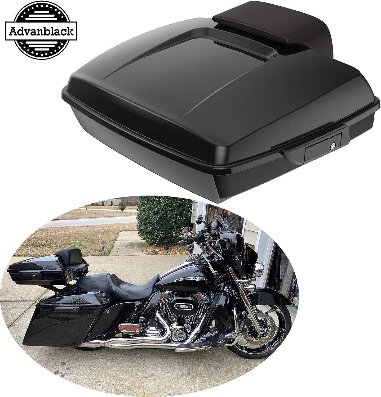 Vivid Black Razor for Harley Tour Pak Davidson HD Trunk Pack pan cake touring