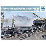 Trumpeter 221  - Maqueta de vagón plataforma para transporte de carga 1 / 35 SSyms (escala 1:35)