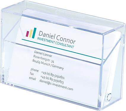 Sigel VA110 - Cajita de plástico duro para tarjetas de visita ...