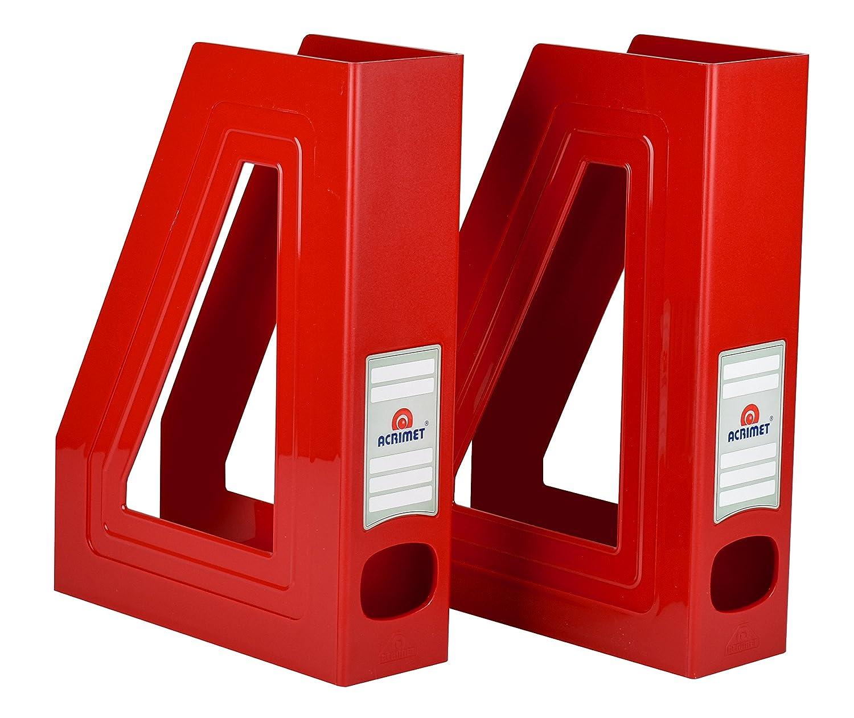 Acrimet Magazine File Holder (couleur rouge Uni) (lot de 2) 277.VMO