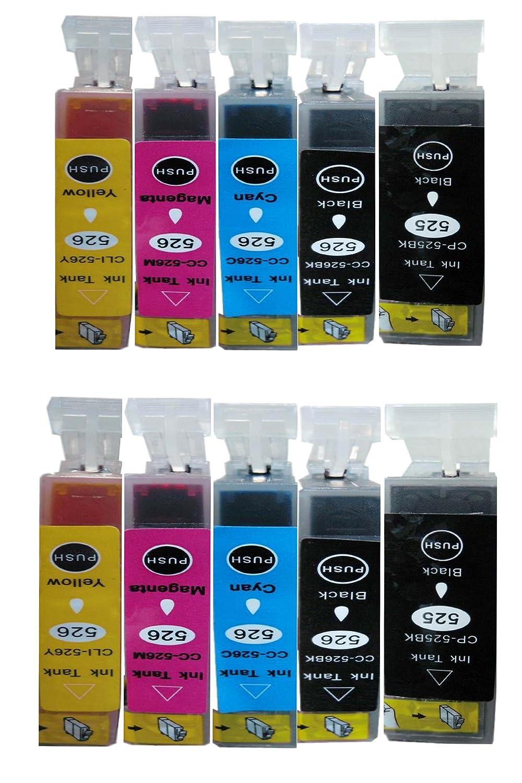 10 Canon compatible CLI526, PGI525, cartuchos de tinta de ...