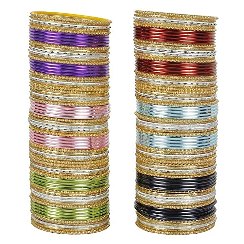 Muchmore Indian Bollywood Fashion 12 Colors Plain Bangle Box Partywear Ethnic Jewelry VBWnHDkxpq