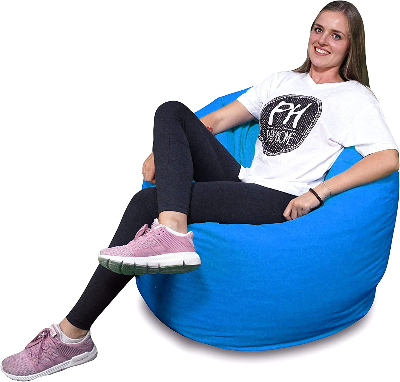 125cm Durchmesser in 25 Farben und 3 versch Patchhome 2 in 1 Funktion Sitzsack Sitzkissen Bean Bag Schwarz Gr/ö/ßen fertig bef/üllt