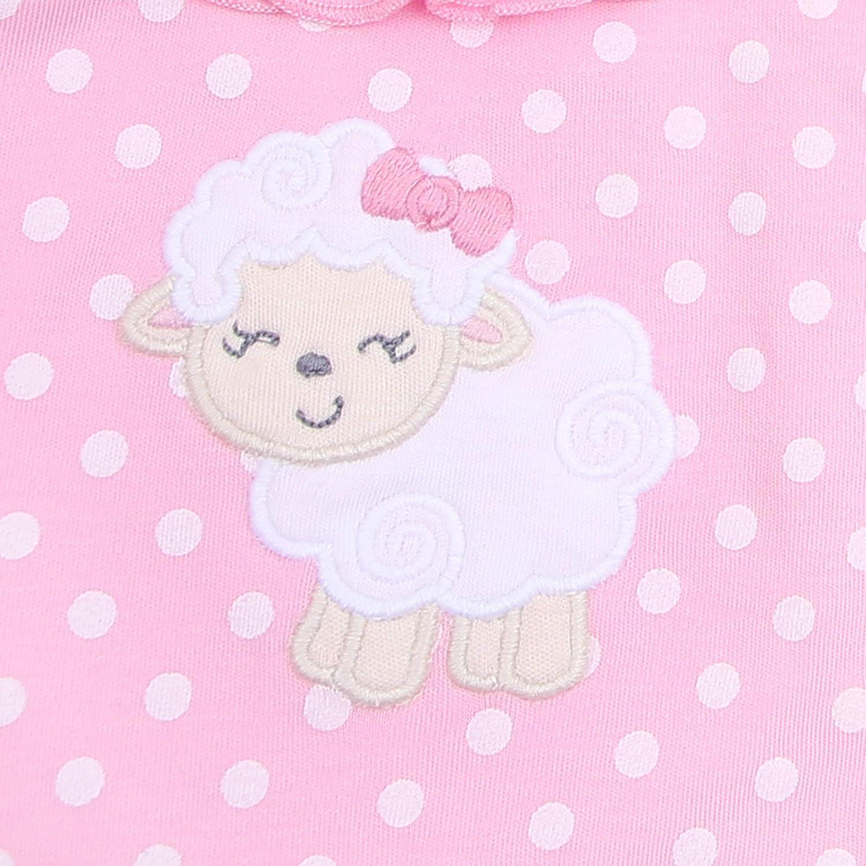 Magnolia Baby Girl LITTLE LAMB Applique Ruffle Short Set NEW