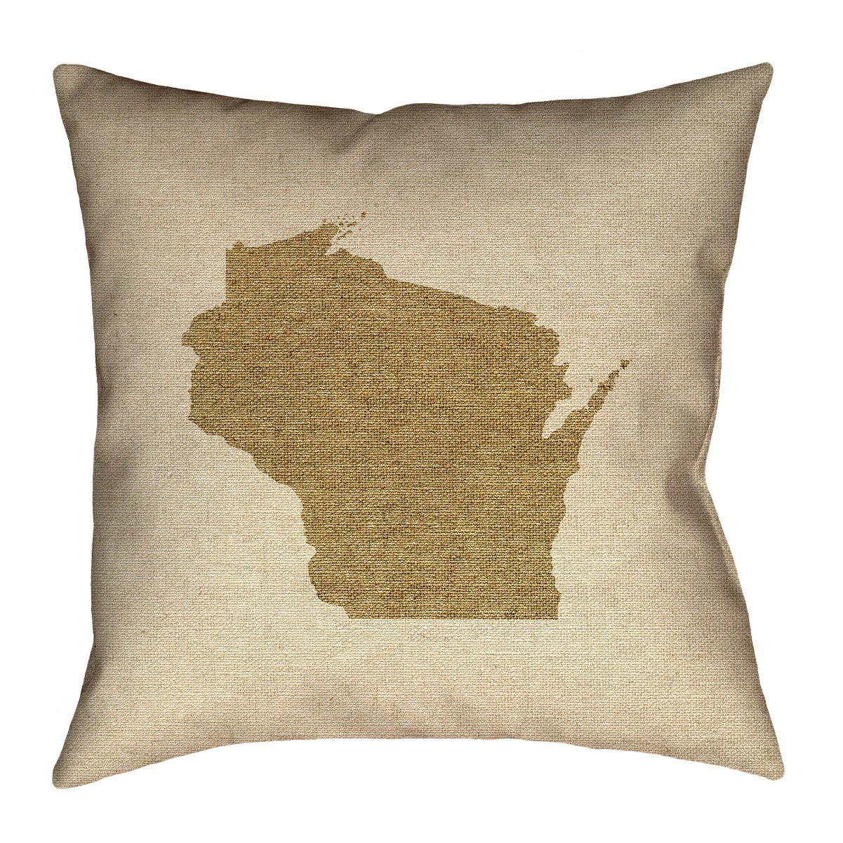 ArtVerse Katelyn Smith Wisconsin Canvas 28' x 28' Floor Pillows Double Sided Print with Concealed Zipper & Insert SMI435F2828L