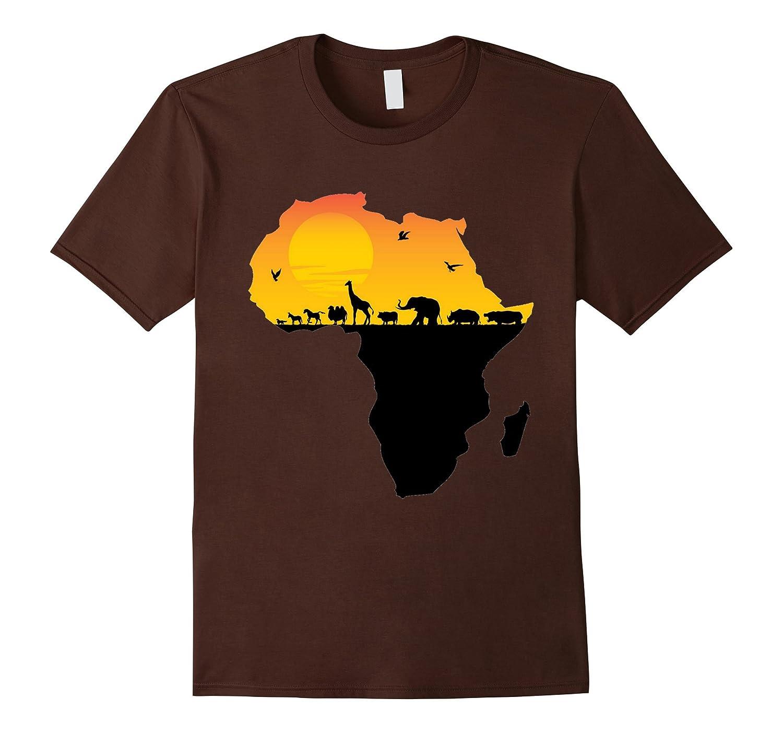 Animals Sizzling Africa Continent T Shirt-Awarplus