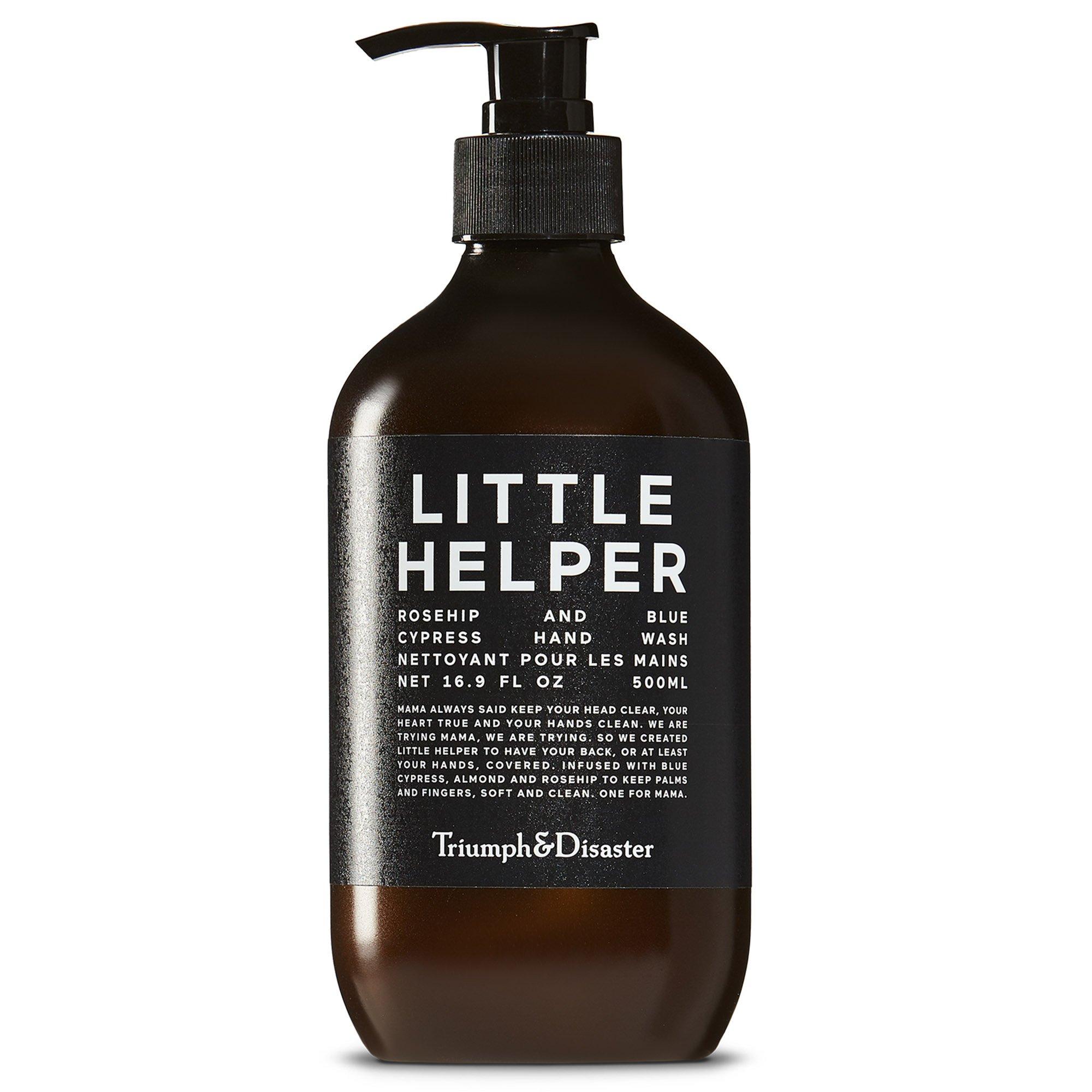Triumph & Disaster Little Helper Hand Wash 500ml – Rosehip & Blue Cypress Natural SLS/SLES-free Plant-Based Gentle Skin Rejuvenating Handwash