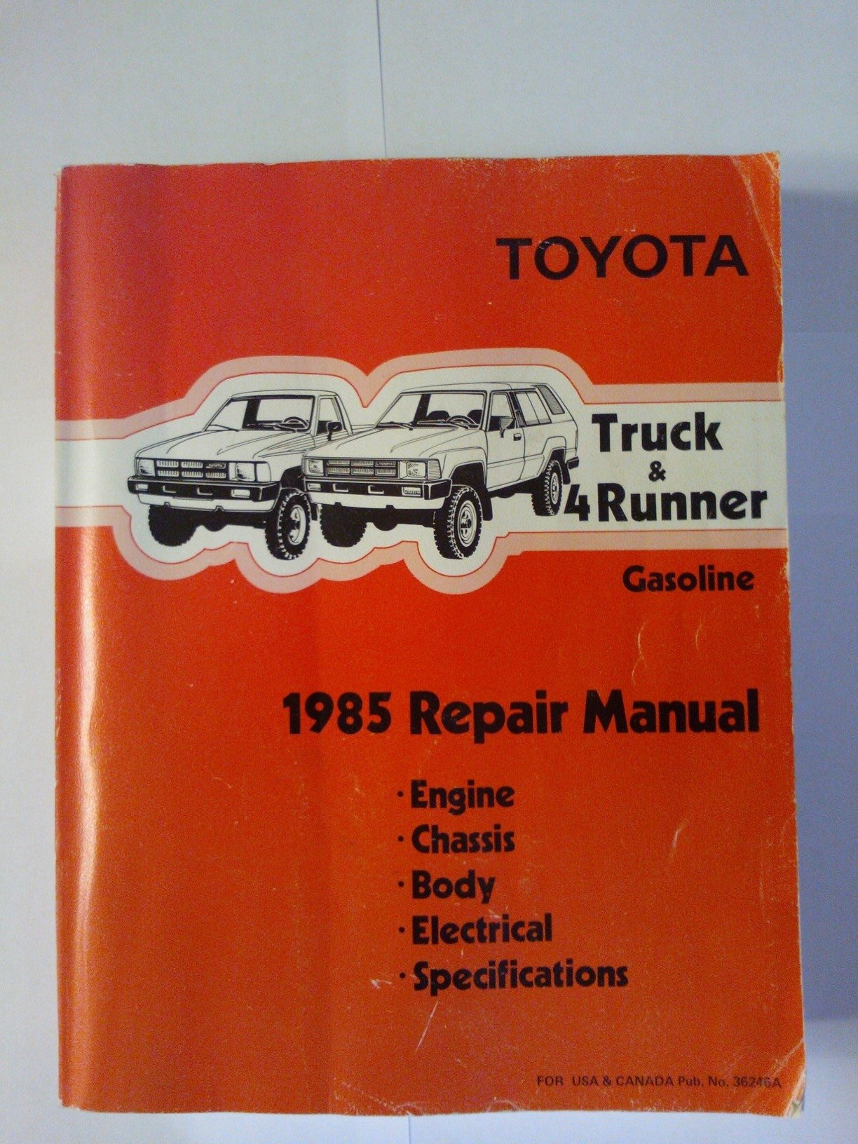 Toyota Truck & 4Runner Gasoline: 1985 Repair Manual: Toyota Motor  Corporation: Amazon.com: Books