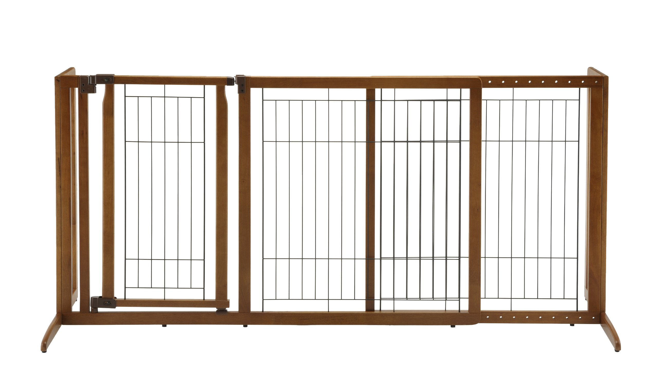 Richell Deluxe Freestanding Pet Gate with Door, Medium by Richell