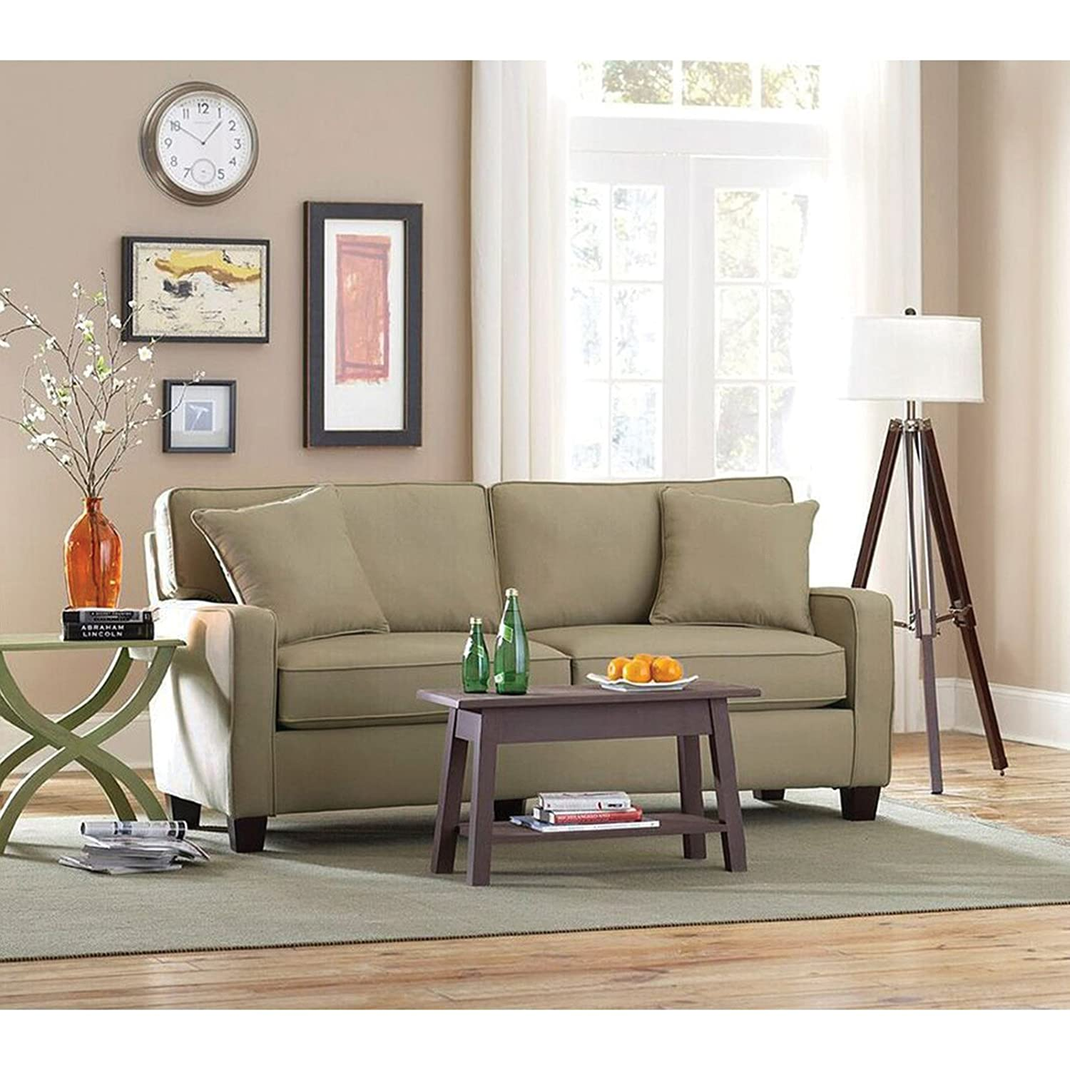 Albany Rta Coco Ii Twill Sofa With 2 Toss Pillows Albany Industries
