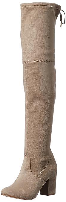 Leo Overknee Boot, Botas Camperas para Mujer, Beige (Taupe 10012), 36 EU SPM