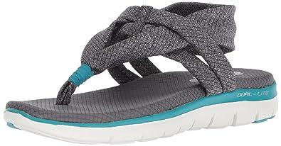Skechers Flex Appeal 2.0 Studio Time 39073/GRY Damen Sandalette
