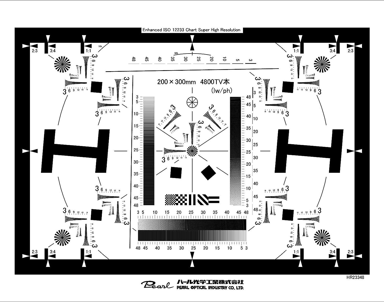 【HR23348】ISO12233準拠 8K解像力テストチャート(スチルカメラ用)   B01ICUZULS