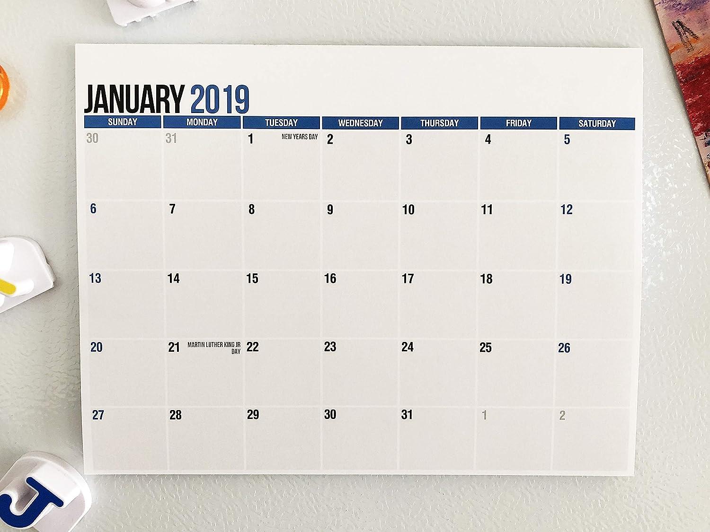 Bloc de calendario magnético para refrigerador, de enero de 2019 a ...