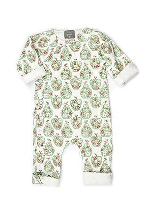 cab388f076e Amazon.com: Kate Quinn Organic Unisex-baby Kimono Jumpsuit, 0-3M (Fruit  Flowers): Clothing
