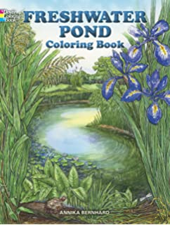 freshwater pond coloring book dover nature coloring book - Nature Coloring Book