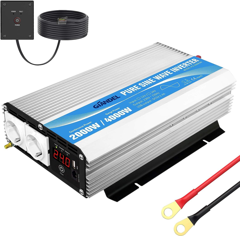 Wechselrichter 24v Auf 230v Reiner Sinus 2000w Elektronik