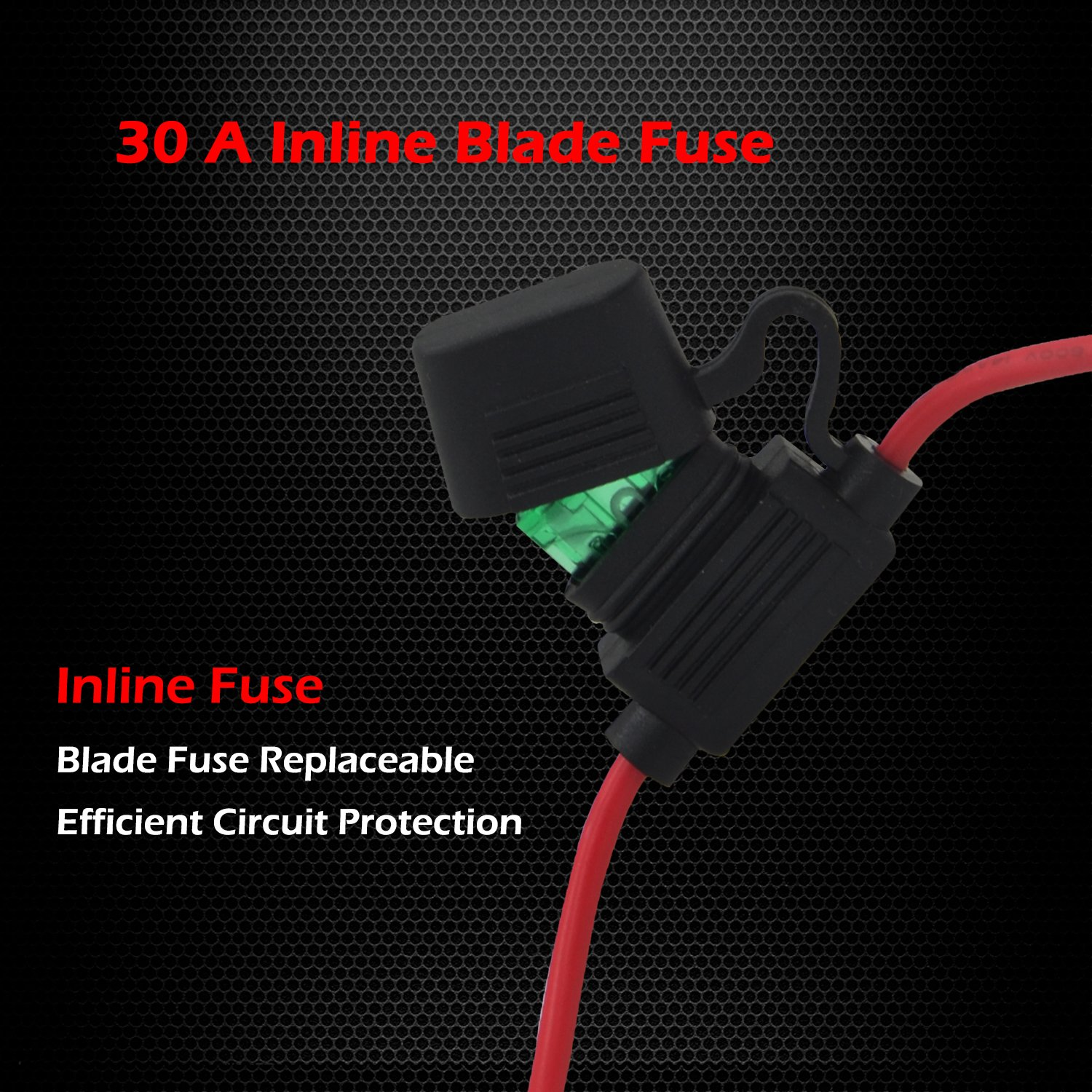 Heavy Duty Wiring Harness Ampper 14 Awg Waterproof Diy Electrical Circuit Choose The Correct Gauge Wire To Avoid Fire Offroad Led Light Bar Kits For High Watt With 40 Amp Relay Fuse On Off