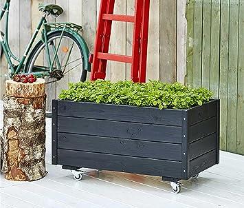 Woodinis Pflanzen Hochbeet Plus Farbgrundiert Schwarz Mobil
