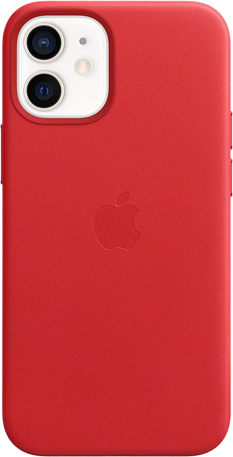 Apple Leather Case with MagSafe (for iPhone 12 Mini) - (Product) RED