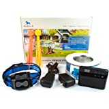 Barklo Underground Dog Containment System - Wireless Electric Perimeter Fence with 2 Shock Collars for Medium to Large Dogs And Pets
