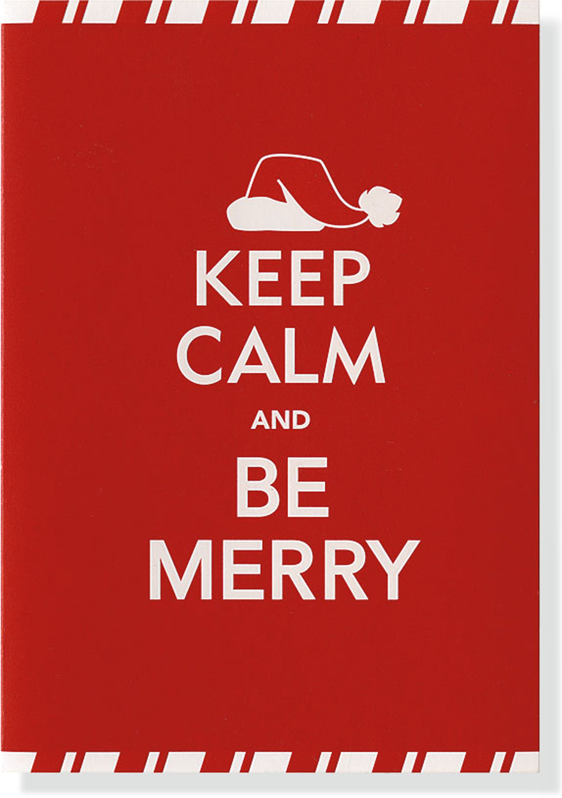 Keep Calm & Be Merry Small Boxed Holiday Cards (Christmas Cards ...