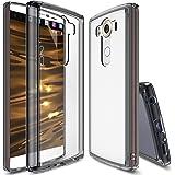 LG V10 Case, Ringke® FUSION [Protective TPU Bumper][Free Screen Protector] Enhancing the Original Look [Smoke Black] Accurate Cutouts Anti-Scratch Clear PC Back Slim Skin Customizable LG V10 Cover
