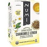 Numi Organic Tea Chamomile Lemon, 18 Count Box of Tea Bags (Pack of 6) Herbal Teasan (Packaging May Vary)