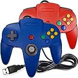 [Versão USB] Pacote com 2 controladores clássicos N64, iNNEXT N64 com fio USB PC Game pad Joystick, N64 Bit USB Wired Game St