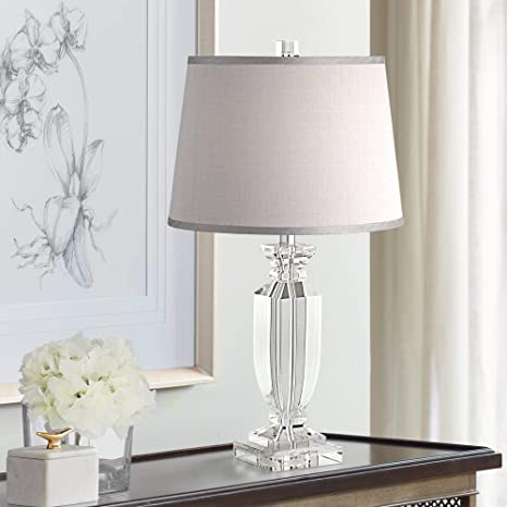 ef59e6d3a573 Sherry Crystal Table Lamp with Gray Shade - - Amazon.com
