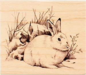 Inkadinkado Snow Rabbit Mounted Rubber Stamp for Card Making and Scrapbooking, 4'' x 3.5'' x 1''